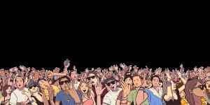 plno ludi na festivale